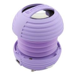 XBOOM Mini Portable Capsule Speaker with Rechargeable Battery and Enhanced Bass+ Resonator - Purple