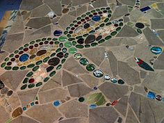 mosaics. I have enough tiles and glass around, I should do this in my spare time. lol