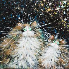 'Stargazing' painting - Kim Haskins Art - 1