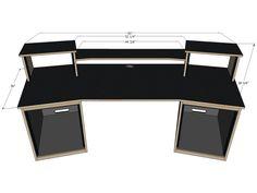 SCS Digistation Recording Studio Desks - Sound Construction & Supply