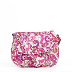 Vera Bradley 'Saddle Up' Paisley Meets Plaid Shoulder Bag ($41) ❤ liked on Polyvore featuring bags, handbags, shoulder bags, multi, crossbody purse, vera bradley shoulder bag, quilted crossbody, white cross body purse and white crossbody handbags