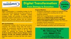 KnowledgeWorks Launching Soon…! Digital Transformation (From Strategy to Execution) For More Details Contact: Chinmaya S Patil ( 9886077575 )