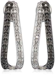 Sterling Silver Black and White Diamond Accent Earringsby Amazon Collection - See more at: http://blackdiamondgemstone.com/jewelry/earrings/diamond-accented/sterling-silver-black-and-white-diamond-accent-earrings-com/#sthash.3imrgH2A.dpuf