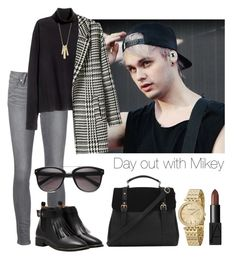 """Day out with Mikey"" by tonioverthetop ❤ liked on Polyvore featuring Paige Denim, H&M, Lauren Ralph Lauren, Stührling and NARS Cosmetics"