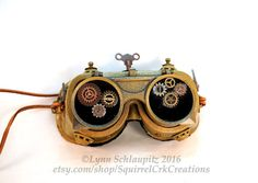 f2254709780 Steampunk - Steampunk Goggles with Gears! Steampunk Accessory Cosplay  Steampunk costume Mad Scientist Larp Goggles