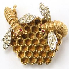 Boucher Bees on a Honeycomb Pin