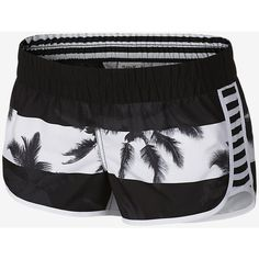 Hurley Supersuede Printed Beachrider Women's Boardshorts. Nike.com ($32) ❤ liked on Polyvore featuring swimwear, boardshorts ve board short swimwear