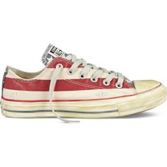 Converse Chuck Taylor Distressed Flag – stars and bars Sneakers ($60) ❤ liked on Polyvore featuring shoes, sneakers, converse, stars and bars, hi top canvas sneakers, high top shoes, star shoes, high top trainers and canvas hi tops