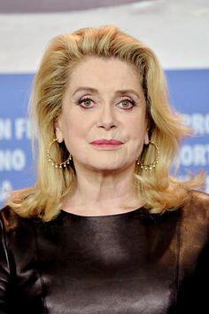 Catherine Deneuve attends a press conference for the film Sage Femme in competition at the 67th Berlinale film festival in Berlin on February 14, 2017.