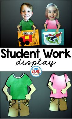 What a clever way to display student work! These would be adorable as a bulletin board.