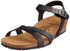 Papillio Alyssa Birko-Flor Damen Knöchelriemchen Sandalen mit Keilabsatz: Amazon.de: Schuhe & Handtaschen