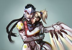 Welcome to the Gency Library! Gency is the pairing for Genji/Mercy Here you can find anything Gency. Overwatch Genji, Overwatch Comic, Overwatch Fan Art, Overwatch Mercy, Overwatch Video Game, Genji Shimada, Overwatch Drawings, Overwatch Wallpapers, Ms Gs
