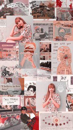 Red Aesthetic, Kpop Aesthetic, Aesthetic Photo, Aesthetic Pictures, Lisa Blackpink Wallpaper, Lock Screen Wallpaper, Blackpink Lisa, Collage Background, Jennie Kim Blackpink