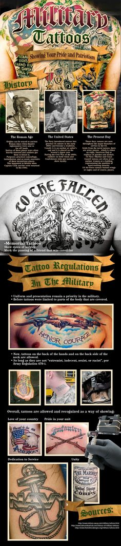 Military Tattoos Showing Your Pride & Patriotism