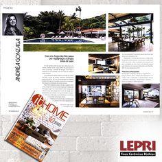 """Mídia impressa - Revista Revista it Home destaca Lepri Finas Cerâmicas Rústicasr na matéria """"Projeto - Andréa Gonzaga""""."""