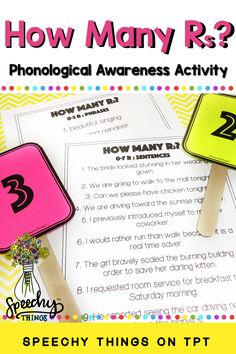 phonological awareness activities for vocalic r speech therapy activities