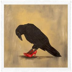 """Red Shoes by Trace Yeomans, limited edition #/20, 12"""" x 12"""" (image size) $100…"""