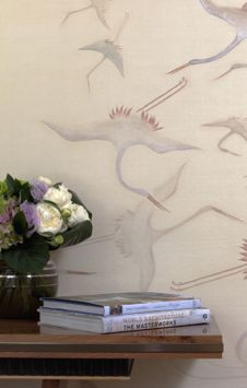 Cranes - DE GOURNAY WALLPAPERS