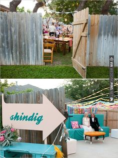 backyard wedding ideas and the cutest sign | VIA #WEDDINGPINS.NET