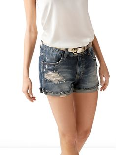0d2950e155ae Shorts Jeans c  Cinto 12000201370