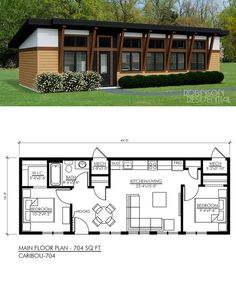 Tiny House Plans 401313016795465593 - Source by ambernadac Tiny House Cabin, Cottage House Plans, Bedroom House Plans, Tiny House Living, Living Room, Small House Floor Plans, Micro House Plans, Guest House Plans, Small Cabin Plans