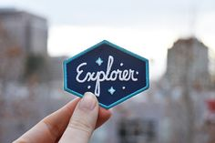 The perfect patch for anyone who loves exploring, ESPECIALLY at night, since this patch is glow-in-the-dark. The word Explorer and the stars are all