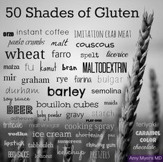 Watch out for these natural and hidden sources of gluten! Some sources have #GlutenFree versions available, but it's always good to check the label!