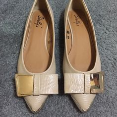 Fancy Flats brand new flats. never worn. Fits size 6. they r size 5.5 Shoes Flats & Loafers