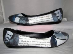 Edgar Allan Poe The Raven Poetry Flats  Made to by custombykylee, $50.00 (Not sure about this..............................)