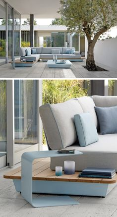 Manutti have recently launched some new colors for their Air collection of modular outdoor furniture.