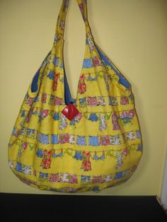 Large Summer Tote in Clothworks' Cabana Print by handstosew, $15.00