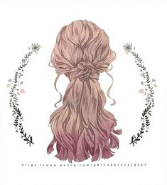 Drawing Hairstyles For Your Characters - Drawing On Demand Amazing Drawings, Art Drawings, Back Drawing, Drawing Hair, Paper Dolls Clothing, Hair Sketch, Hair Reference, Hair Shows, Anime Hair