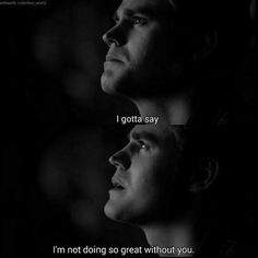 Find images and videos about sad, the vampire diaries and together on We Heart It - the app to get lost in what you love. Vampire Diaries Quotes, Vampire Diaries Seasons, Vampire Diaries Wallpaper, Vampire Diaries Damon, Vampire Diaries The Originals, Tvd Quotes, Tv Show Quotes, Movie Quotes, Qoutes