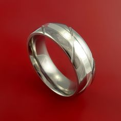Titanium Textured Ring with Silver Inlay by StonebrookJewelry, $198.92