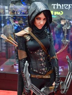 Thief  ~ Cos Play... I don't even know what cos play is but this chick looks bad ass