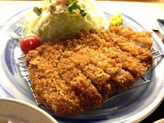 "Japanese Food ""Tonkatsu"" (a breaded pork cutlet)"