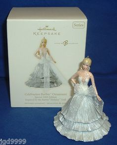Hallmark Ornament Celebration Barbie #9 2008 Special Edition Silver Gown