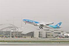 Air Tahiti Nui Airbus A340-313E departing LAX