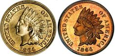Learn All About the Varieties of Indian Head Pennies: 1864 Indian Head Cent Copper/Nickel vs. Bronze