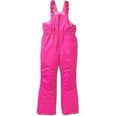 Faded Glory Girls Snow Bib Ski Pants size Small 6 6X Pink Snowsuit #FadedGlory #SkiPants #Everyday