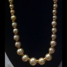 The Jackie O Kennedy Pearl Necklace by Napier Vintage statement but sophisticated. KATE Middleton to The Jackie O Kennedy Pearl Necklace by Napier - an authentic 1980s piece in excellent condition. It has been in my smoke free home all these years. A real beauty. Part of my amazing collection. Napier Jewelry Necklaces
