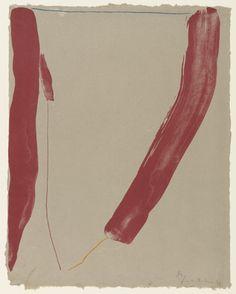 Helen Frankenthaler. A Slice of the Stone Itself. 1969