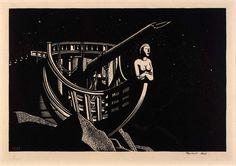 "Rockwell Kent - ""Imperishable"" Zinc Engraving, 1927 6 in. x 10 in. mm x 254 mm). Rockwell Kent, Art Prints For Sale, Fine Art Prints, Paris Art, Wood Engraving, Museum Collection, Affordable Art, Gravure, Art Plastique"