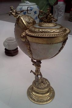 Dutch School  Nautilus Cup  18th-19th century  shell, bronze, and gilded metal  Recent Conservation  Museo de Arte de Ponce, The Luis A. Ferré Foundation, INC.