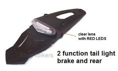 Enduro MX trail RED LED brake stop rear tail tidy light CRF DRZ KTM YZF