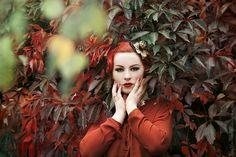 Autumn colors - fascinators & headpieces. By Jazzafine.
