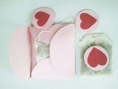 DIY Valentine tea bags