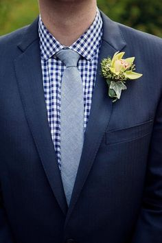 Only with chocolate brown tuxes, burnt orange gingham dress shirt, and brown tie for fall wedding?