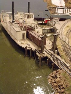 Riverboat with car track