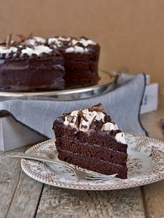 Pradobroty: Harlekýn Love Chocolate, Chocolate Cake, Czech Recipes, Pavlova, Cheesecakes, Tart, Food And Drink, Sweets, Meals